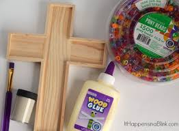 wood crosses for crafts bead filled cross craft