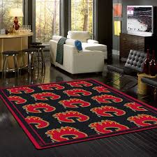 Calgary Area Rugs Calgary Flames Nhl Team Repeat Rug Fan Rugs