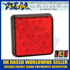 12 volt red led lights led 81f compact slimline rear red led fog l light 12 volt