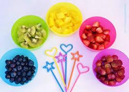 plastic fruit skewers easy recipe for kids rainbow fruit skewers with free printable