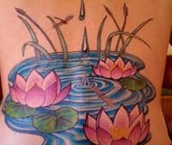 back lotus flower in water tattoo designs tattoo love