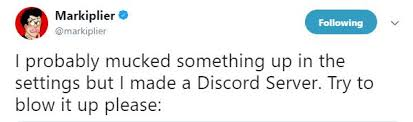 discord javascript error the markiplier discord server and his quest to break it discover