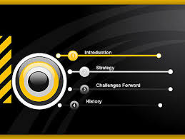 cool black orange theme powerpoint template backgrounds 12514