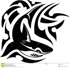 tribal hammerhead shark stock vector image 40130287