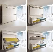 Small Bunk Beds Small Spaces Lollisoft Murphy Bunk Beds Hiconsumption