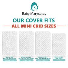 What Is The Size Of A Crib Mattress Babymaryco Pack N Play Waterproof Crib Mattress Pad