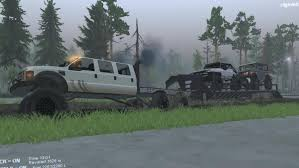 Ford Diesel Trucks Mudding - spintires mods ford super six towing 2 rock crawlers on