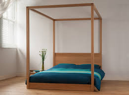 modern wooden four poster bed on with hd resolution 1000x701
