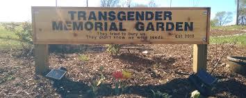 memorial garden transgender memorial garden of st louis they tried to bury us