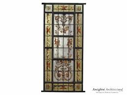 Antique Stained Glass Door by Antique Hand Painted Stained Glass Window Panel