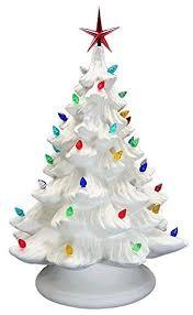 ceramic christmas tree with lights cracker barrel charming design ceramic christmas tree base bisque amazon atlantic
