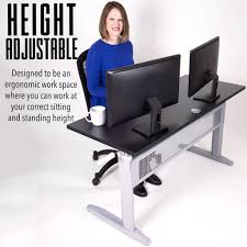 Standing To Sitting Desk by Tranzendesk Standing Desk 55 Inch Full Size Standing Desk