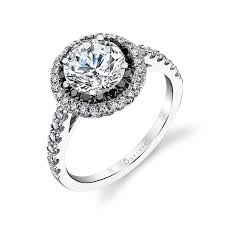 black and white engagement rings engagement rings 5 000 black diamonds white gold and