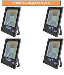 100 watt led flood light price glazo 100 watt led slim flood light pack of 4 pearl white buy glazo