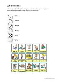 printable question dice wh questions worksheet free esl printable worksheets made by teachers