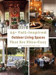 livinf spaces 25 fall inspired outdoor living spaces that are ultra cozy