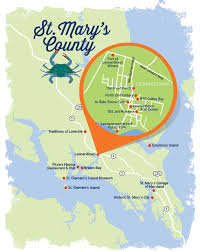 Barefoot Landing Map Explore Colonial History In St Mary U0027s County Maryland