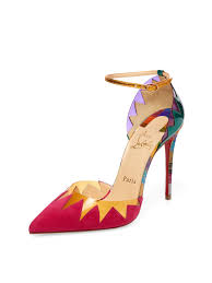 christian louboutin pointed toe high heels in pink lyst