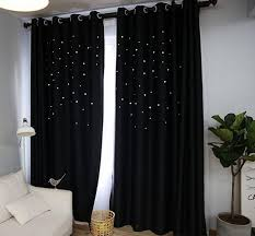 Black Curtains Bedroom Custom Made Fashion American Country Curtain Hollow Out Black