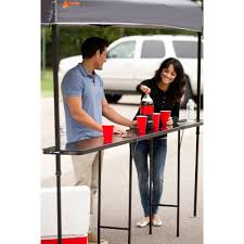 Height Of End Table by Ozark Trail Bar Height 10 U0027 Folding Canopy Table Walmart Com