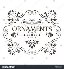 ornamental borders design stock vector 669437056