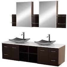 shop wyndham collection avara espresso double vessel sink bathroom