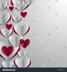 illustration valentines day card template paper stock vector