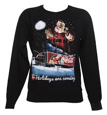 Womens Holidays by Women U0027s Coca Cola Holidays Are Coming Lightweight Christmas Jumper