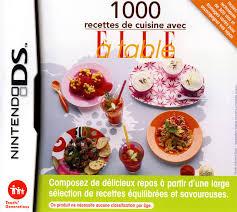 jeu de cuisine avec 1000 recettes de cuisine avec à table sur nintendo ds