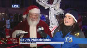 santa claus visits red cross annual children u0027s holiday party cbs