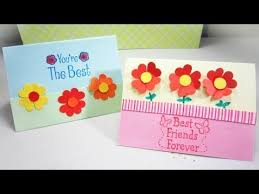 how to make a card with heart flowers ep simplekidscrafts