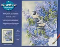 chickadees u0026 lilac paint by number kit 91361 by dimensions 91361