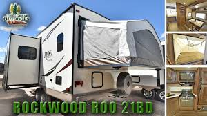 new hybrid bike deck rockwood roo 21bd expandable camping trailer