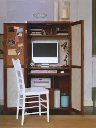 Computer Armoire Desk Ikea Robust Spacesmonitor Plus Large Size Small Home Office For