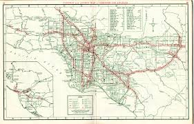Map Of City Of Los Angeles by A Freeway Atlas From Before You Could Say You Took The 5 To The 2