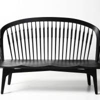 Black Wooden Bench Indoor Brown Wooden Bench With Bars On The Back Combined With Black