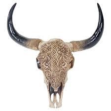Wohnzimmerm El Serie Amazon De Deko Schädel 45cm Polyresin Stier Bulle Longhorn Kopf