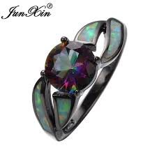 aliexpress buy junxin new arrival black aliexpress buy junxin hollow style rainbow opal
