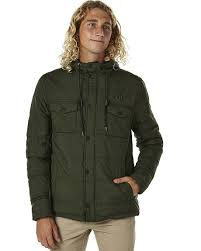 Green Parka Jacket Mens Hurley Offshore Mens Parka Jacket Carbon Green Surfstitch