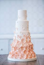peach ombre wedding cake 26 oh so pretty ombre wedding cake ideas