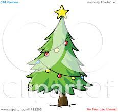 a cartoon christmas tree christmas lights decoration