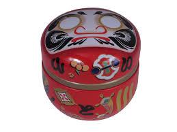 Setting Daruma Decorative Tea Tins