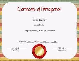 borderless certificate templates free certificate of participation customize online u0026 print