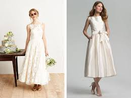 tea dresses wedding tea length wedding dresses weddbook