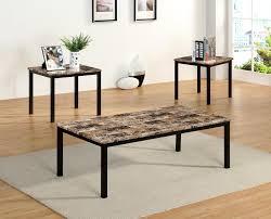 3pc black queen anne table set