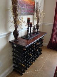 console table with wine storage bar table with wine rack gallery table decoration ideas