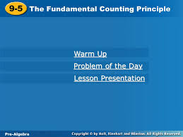 9 5 the fundamental counting principle warm up problem of the day