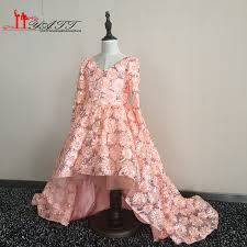 click to buy u003c u003c real pictures high low cheap flower dresses