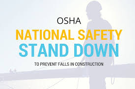 Osha Handrail Post Spacing Osha National Safety Stand Down To Prevent Falls In Construction