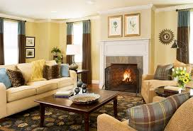 cherry brown leather sofa apartment simple living room interior decorating ideas using cream